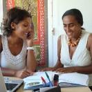 Valérie la psychologue et Sharifa l'infirmière